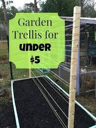 easy pea trellis raised bed trellis for under 5 gardens vegetable garden and