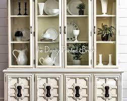 vintage china cabinet beachy hutch shabby chic china