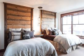 Rustic Bedroom Lighting Diy Rustic Headboard Bedroom Rustic With Floating Table