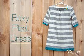 diy boxy pleat dress icandy handmade