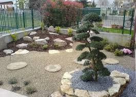 Rock Backyard Landscaping Ideas Simple Backyard Landscaping Ideas With Zen Rock Design And Metal