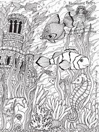 Hard Flower Coloring Pages - 207 best coloring ocean images on pinterest coloring books