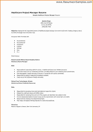 8 healthcare project manager resume invoice template download