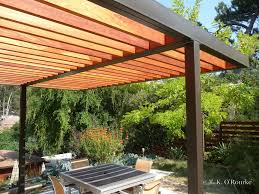 modern steel and wood pergola pergola pinterest wood pergola