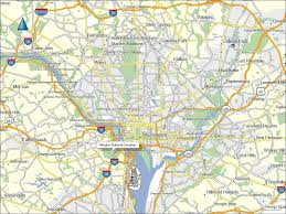 Washington Dc Attractions Map Wallpaper Of The Large Map Of Washington