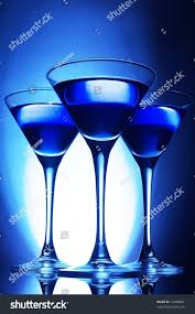 martini blue three martini glasses blue stock photo 13480891 shutterstock