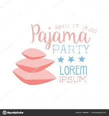 Invitation Card Designing Girly Pajama Party Invitation Card Template With Pile Of Pillows