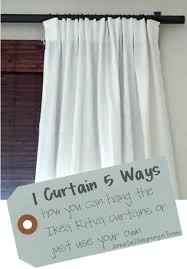 Large Drapery Rings 1 Curtain 5 Ways Ikea Ritva Or Use Your Own Curtains