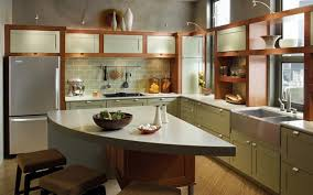 kitchen paint colors with cream cabinets green painted kitchen