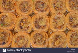 baklava traditional sweet pastry cookies with nuts