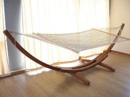 furniture cool free standing hammock with wood stand and wood