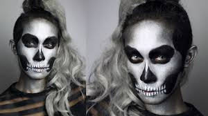 Skeleton Halloween Makeup by Glitter Skull Makeup Tutorial 31 Days Of Halloween Youtube