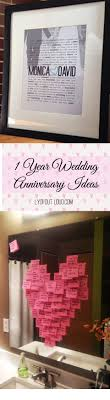one year anniversary gift ideas 1 year wedding anniversary ideas paper gift hotel room ideas