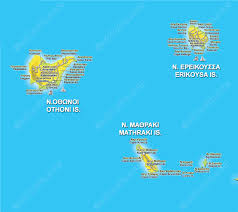 Greek Islands Map Maps Of Corfu Surrounding Islands Paxos And Diapontia Corfu Areas