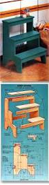 Woodworking Plans Rotating Bookshelf by Kitchen Step Stool Plans Furniture Plans And Projects
