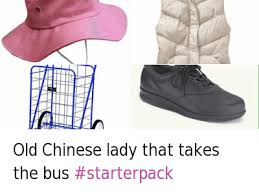 Chinese Lady Meme - old chinese lady that takes the bus old chinese lady that takes