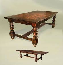 Expandable Dining Room Sets Dining Tables Rustic Old English Style Expandable Dining Table
