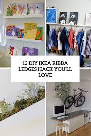 Diy Hack 13 Diy Ikea Ribba Ledges Hacks You Will Love Shelterness