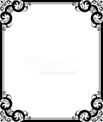 black floral ornament frame stock vector freeimages