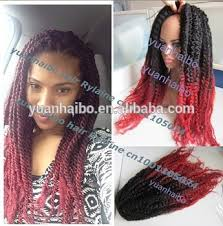 ombre marley hair stock cheap price 20 folded black red synthetic ombre marley