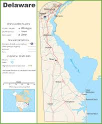 Highway Map Of Usa Delaware Highway Map