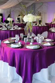 tablecloth decorating ideas purple and white wedding decorations reception decoration ideas 2018