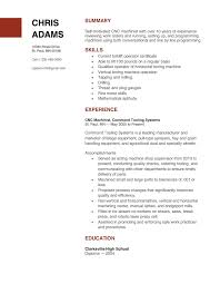 how to write a machinist resume resumedoc