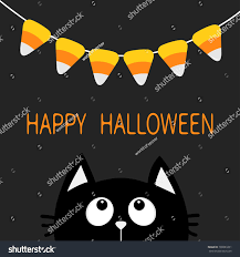 cat silhouette looking bunting stock illustration