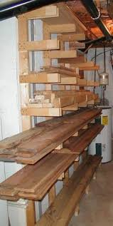 Mobile Lumber Storage Rack Plans by Lumber Storage Area Horizontal Storage For Longer Pieces And A