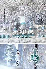 winter wonderland decor kids christmas party theme frozen party