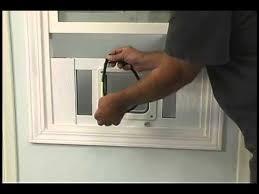 installing pet door in glass door installing the aluminum sash window pet door by ideal youtube