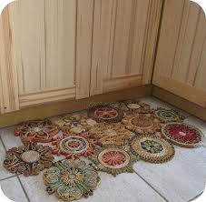 how to a floor mat from straw trivets recycled crafts