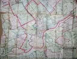 Map Of Philly Early Road Maps Of Pennsylvania