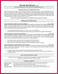 system administrator resume sop examples