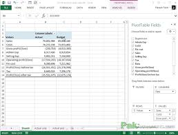 Project Profit And Loss Template Excel Budget Vs Actual Analyzing Profit And Loss Statements In Excel