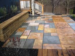 Snap Together Slate Patio Tiles by With That Thought We Want To Share 12 Amazing Stone Patio Designs