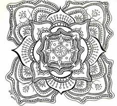 free abstract coloring page to print detailed psychedelic for