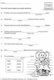 all worksheets adjectives worksheets grade 4 printable