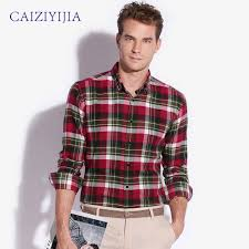 Boys Casual Dress Clothes Compare Prices On Men Flannel Plaid Shirt Online Shopping Buy Low