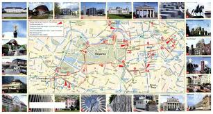 Germany City Map by Large Tourist Map Of Central Part Of Berlin City Vidiani Com