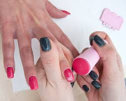 easy and simple nail art color blocking with tape youtube