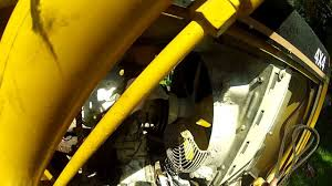 backhoe loader v belt replacement youtube