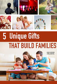 5 unique gifts for families centered holidays