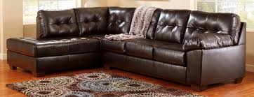 Ashley Furniture Leather Sectional With Chaise Buy Ashley Furniture 2010116 2010167 Alliston Durablend Chocolate