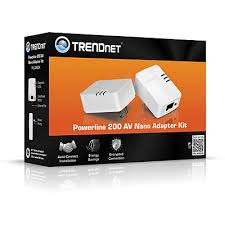 powerline 200 av nano adapter kit trendnet tpl 308e2k