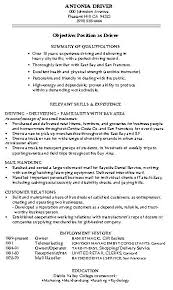 warehouse resume skills summary customer resume objective warehouse worker