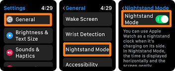 how to use nightstand mode on apple watch