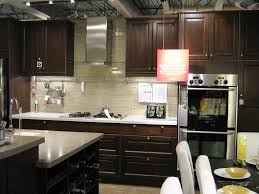 dark cabinet kitchens with black appliances design marissa kay