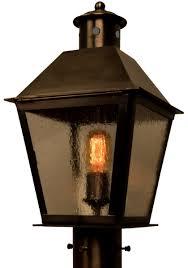 banford post light outdoor rustic copper lantern