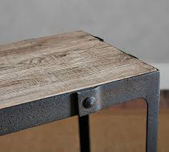 Reclaimed Wood Side Table Clint Reclaimed Wood Coffee Table Pottery Barn